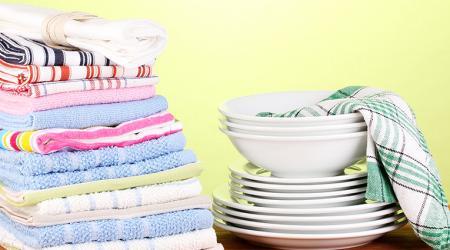 Как отстирать кухонные полотенца от стойких загрязнений