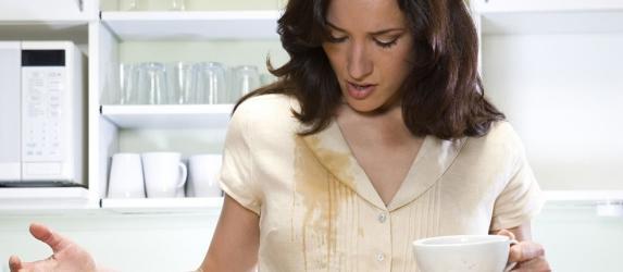Как быстро вывести пятно от чая