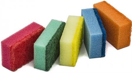 Разновидности губок для мытья посуды