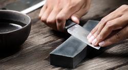 Как правильно точить ножи бруском