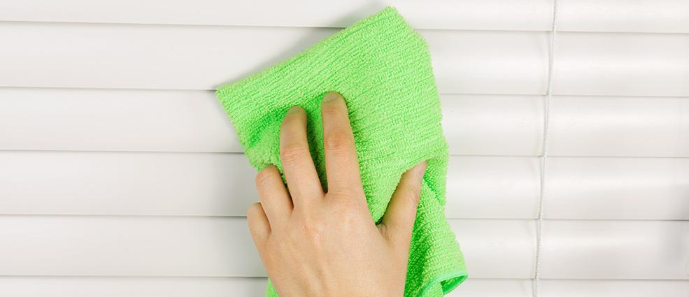 помыть жалюзи горизонтальные